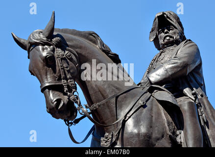 London, England, UK. Statue (by Adrian Jones, 1905) of Prince George, 2nd Duke of Cambridge (1819-1904) in Whitehall. - Stock Photo