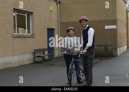 Hawick, Scotland, UK. 15th April 2015. Ruth Davidson,currently leader of the Scottish Conservative and Unionist - Stock Photo