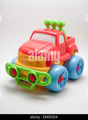 toy jeep car on a white background - Stock Photo