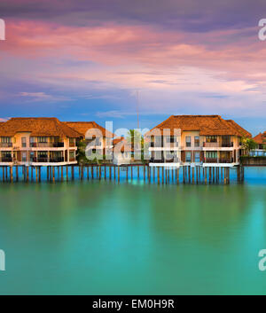 Water villas - Stock Photo