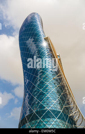 The Capital Gate Tower on the November 5, 2013 in Abu Dhabi, This is certified as the World's Furth - Stock Photo