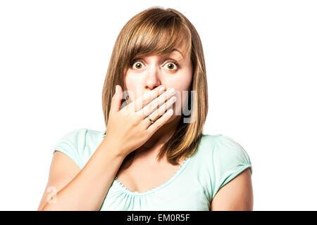 Shocked young girl - Stock Photo