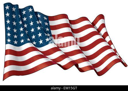US Flag WWI-WWII (48 stars) - Stock Photo