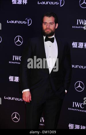 Shanghai, China. 15th April, 2015. Actor HENRY CAVILL poses for photos on the red carpet during arrivals for the - Stock Photo