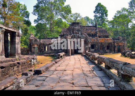 Banteay Kdei temple in Angkor Wat, Siem Reap, Cambodia - Stock Photo