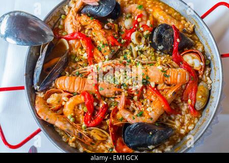 Paella. Spanish traditional food. - Stock Photo
