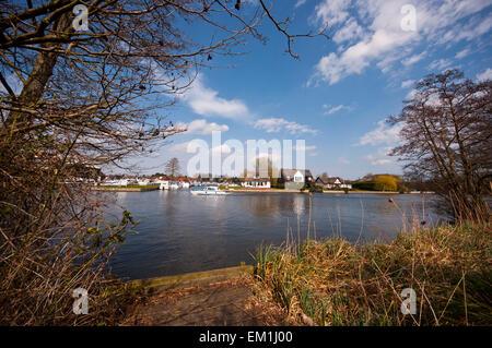 Horning River Bure Norfolk Broads England UK - Stock Photo