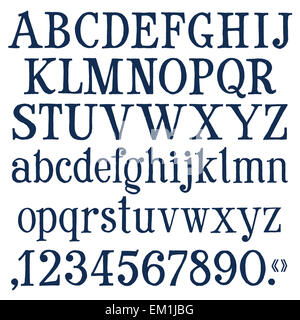 numbers and letters vector logo design template. font or abc icon. - Stock Photo