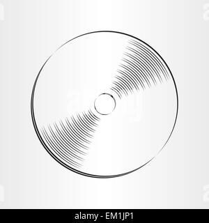 compact disc dvd cd icon design element - Stock Photo