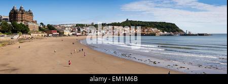 UK, England, Yorkshire, Scarborough, South Sands beach - Stock Photo