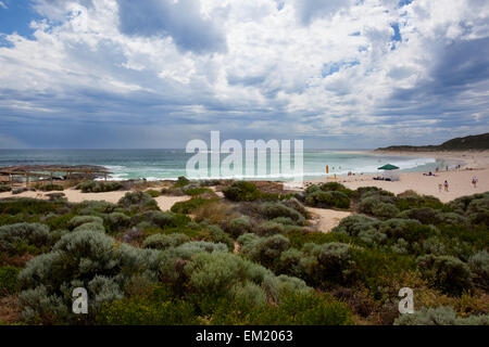 Surfing Destination Of Rivermouth Beach Near Margaret River And Prevelly; Western Australia Australia - Stock Photo