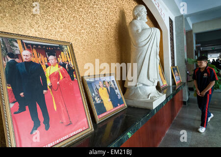 Photograph of Russian President Vladimir Putin during visit to Songshan Shaolin Temple Wuseng Tuan Training Center, - Stock Photo