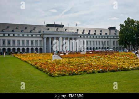 Flower Show At Electoral Palace; Koblenz Rhineland-Palatinate Germany - Stock Photo