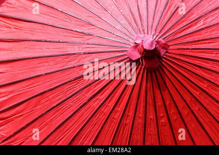 Red umbrella. - Stock Photo