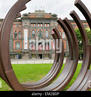 Sculpture Outside The West Norway Museum; Bergen Norway - Stock Photo
