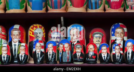 Souvenirs Of Russian Leader's Images; St. Petersburg Russia - Stock Photo