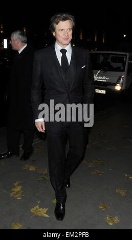 07.NOVEMBER.2012. LONDON  COLIN FIRTH ARRIVING AT THE CORINTHIA HOTEL FOR THE AFTER PARTY FOR HIS NEW FILM GAMBIT. - Stock Photo
