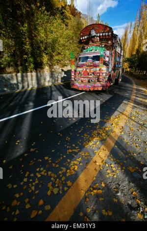 Beautiful Truck on highway - Stock Photo