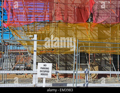New houses being built in the new town of Lawley Village, Telford, Shropshire, England UK - Stock Photo