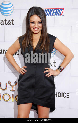 02.JUNE.2012. LOS ANGELES    MILA KUNIS AT THE SPIKE TV'S 6TH ANNUAL 'GUYS CHOICE' AWARDS HELD AT THE SONY STUDIOS - Stock Photo