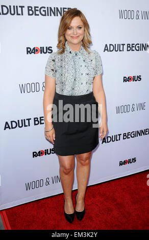 Los Angeles, California, USA. 15th Apr, 2015. Amy Poehler Adult Beginners Film Premiere, 15th April, 2015. Credit: - Stock Photo