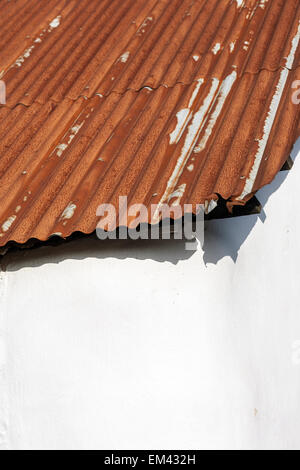 rusty corrugated roof on cob barn,Rusty, Tin, Roof, Culture, Metal, Corrugated Iron, Backgrounds, Textured, Iron - Stock Photo