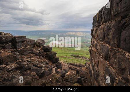 Belvoir Fortress In Kokhav Ha Yarden National Park; Israel - Stock Photo