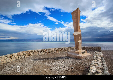 Field School Monument At The Edge Of The Dead Sea; Ein Gedi Israel - Stock Photo