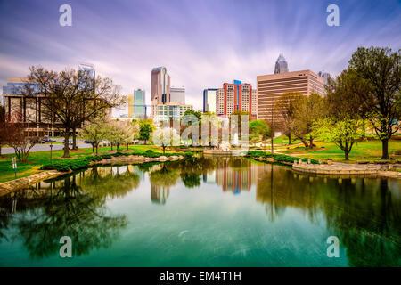 Charlotte, North Carolina, USA skyline. - Stock Photo