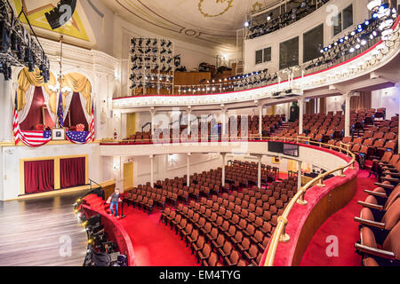 Historic Ford's Theatre. The theater is infamous as the site of the assassination President Abraham Lincoln in 1865. - Stock Photo