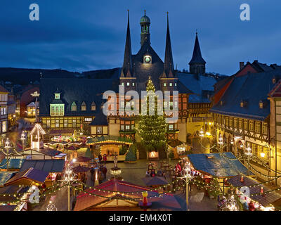 christmas market in wernigerode stock photo 70085023 alamy. Black Bedroom Furniture Sets. Home Design Ideas