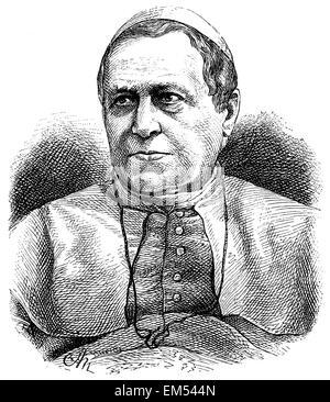 Pius IX . (born May 13, 1792 , died February 7, 1878 ) - Stock Photo