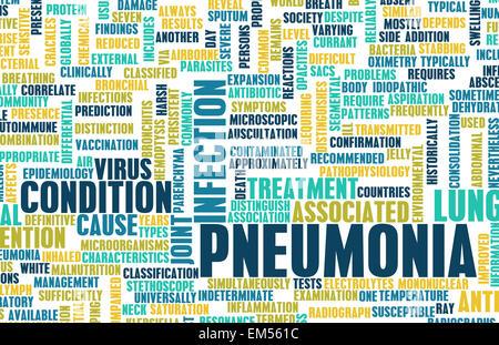 Pneumonia - Stock Photo