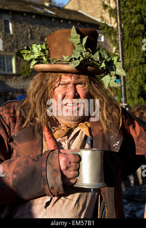 UK, England, Yorkshire, Grassington, Dickensian Festival, retired local doctor Andrew Jackson playing Sadgebury - Stock Photo