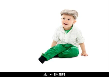 Cute dapper little boy - Stock Photo