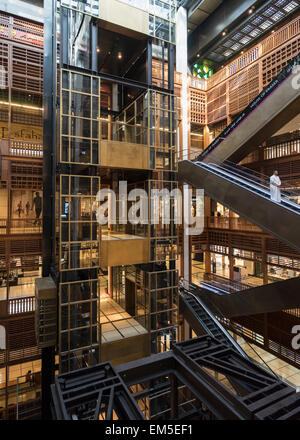 Interior of new World Trade Center Mall in Abu Dhabi United Arab Emirates - Stock Photo