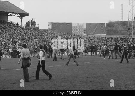 March 1978, a full-scale riot breaks out at The Den during an FA Cup quarter-final between Millwall and Ipswich. - Stock Photo