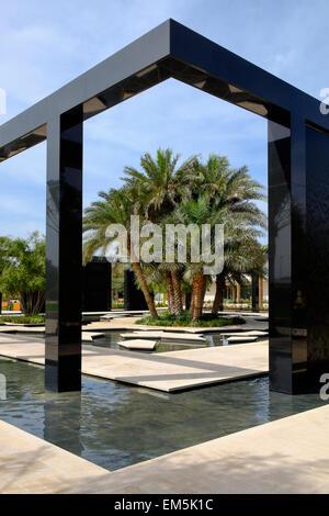 The Wisdom Garden at New Mushrif Central Park in Abu Dhabi United Arab Emirates - Stock Photo