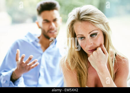 Woman fed up of partner - Stock Photo