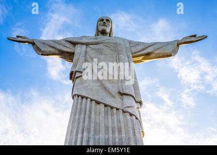 Brazil, Rio De Janeiro, the statue of Christ the Redeemer on Corcovado - Stock Photo