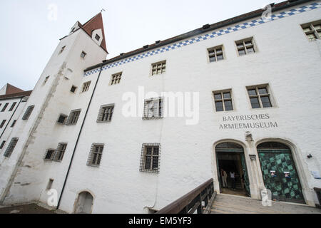 Ingolstadt, Germany. 16th Apr, 2015. The Bayerisches Armeemuseum (Bavarian Army Museum) at the Neues Schloss in - Stock Photo