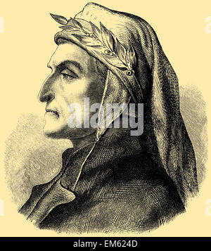 Dante Alighieri (1265 - 1321),  Italian poet - Stock Photo