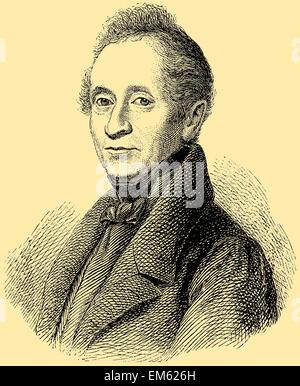 Joseph von Eichendorff (1788 - 1857), German poet and novelist - Stock Photo
