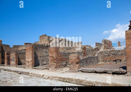 ancient Roman city of Pompeii, which was destroyed and buried by - Stock Photo