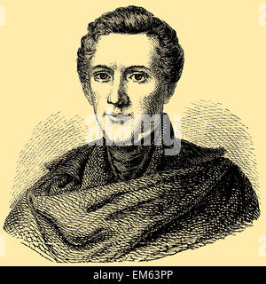 Wilhelm Hauff (1802–1827), German poet and novelist - Stock Photo