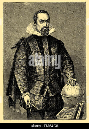 Johannes Kepler (1571 – 1630), German mathematician, astronomer and astrologer - Stock Photo