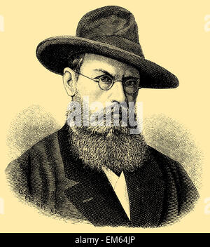 Franz von Lenbach (1836 – 1904), German painter - Stock Photo