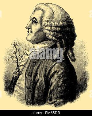 Carl Linnaeus, Carl von Linné (1707 - 1778), Swedish botanist, physician, and zoologist - Stock Photo