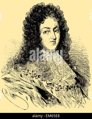 Louis XIV (1638 – 1715), Sun King (French: le Roi Soleil), King of France and of Navarre - Stock Photo