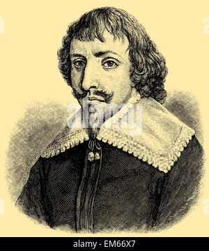Martin Opitz von Boberfeld (1597 – 1639), German poet - Stock Photo